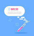 banner template with chemical lab test tube vector image
