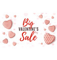 big valentines day sale minimalistic web design vector image vector image