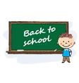 boy near classroom board vector image