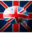 British flag in the form of a speech bubble vector image vector image