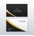 business card template design in simple style vector image