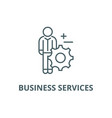 business services line icon business vector image vector image