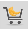 carry buying banana fruit icon graphic vector image vector image