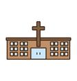 church building celebration wedding icon vector image