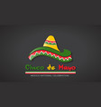 cinco de mayo hat celebration vector image vector image