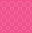 circular barbells horseshoe pink seamless vector image vector image