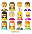 Colorful people Faces Circle Icons Set vector image vector image