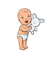 cute little baby vector image vector image