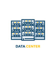 data center servers vector image vector image