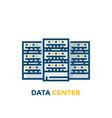 data center servers vector image
