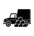 delivery truck with boxes vector image