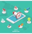Digital marketing isometric flat concept vector image vector image