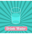 Drink water Starburst blue background Infographic vector image
