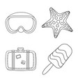 equipment and swimming icon vector image