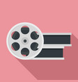 film metal roll icon flat style vector image