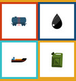 flat icon fuel set of fuel canister boat vector image