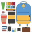 flat line design concept outfit accessories vector image