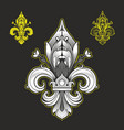 fleur de lys antique symbol french royalty vector image