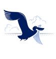 flight bird logotype duck pelican vector image vector image