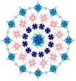 floral geometric pattern vector image