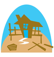Framework for a house vector image vector image