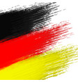 grunge background in colors of german flag vector image