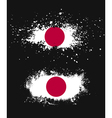 Grunge japanese ink splattered flag vector image vector image