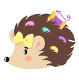hedgehog with buttons vector image