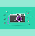 icon photo camera vector image