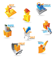 Icons for commerce and retail vector image