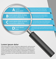 infographic with a magnifying glass vector image vector image