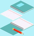 isometric on a blue background with image vector image
