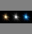 light effects stars glow bursts vector image