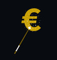magic wands with euro currency shape vector image