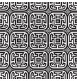 meanders black and white seamless pattern vector image