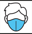 medical mask wearing respirator for protection vector image