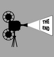 movie cine projector the end vector image vector image