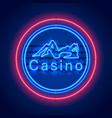 neon casino sexy girl signboard vector image