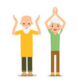 old people doing exercises sport for elderly vector image