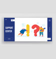people search and give information website landing vector image