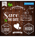 Save the date for personal holiday Wedding set on vector image vector image