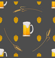 seamless pattern with beer mugs vector image vector image