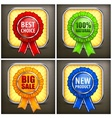 Set of color award labels on vector image