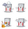set of computer character with chef surprised vector image vector image