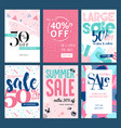 set of mobile summer sale banners vector image vector image