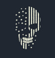 skull made like american flag vector image vector image