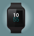 smart watch on gray background vector image vector image