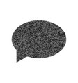speech bubble icon black icon from many vector image vector image