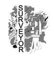 symbol for surveyor vector image vector image