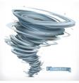 tornado 3d icon vector image vector image